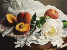 peaches by cora ogden (sold)