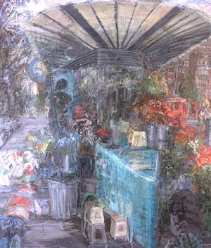 flower stall (westbourne grove) by catherine goodman