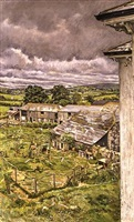 farm overlooking bodmin moor, early summer by christopher bramham