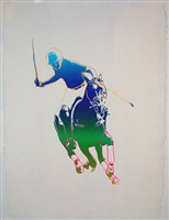 polo player by andy warhol