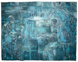 night scene by leon golub