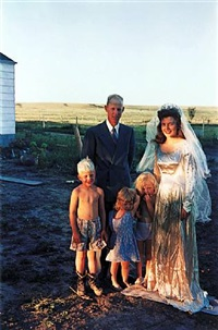 'americans in kodachrome' edited by guy stricherz (seventh wedding anniversary, hermosa, south dakota. irvin evans, photographer) by guy stricherz