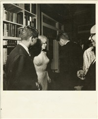 marilyn monroe, bobby & john kennedy at arthur krim's birthday party for jfk by cecil, capt. stoughton