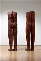 two female figures, 2002 by magdalena abakanowicz