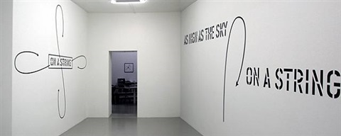 on a string by lawrence weiner