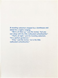 Untitled (A Traveling Salesman...), 1987