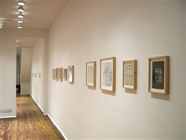 installation view towards front room of <b>robin miller</b> drawings <br>(checklist 29. - 37.)<br> [right-left]