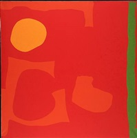 square red with scarlet, emerald and orange by patrick heron