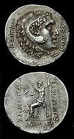 bactrian silver tetradrachm of king agathokles - c.2031