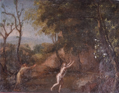 Unsigned Old Master - Apollo and Daphne on artnet