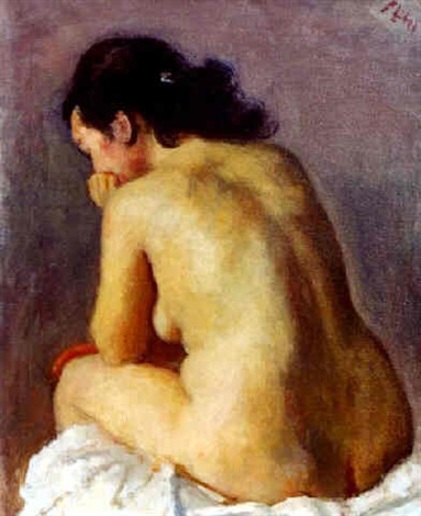 seated nude by robert philipp