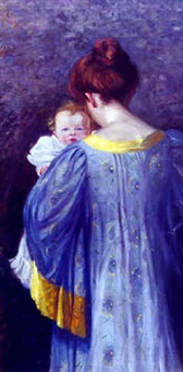 portrait of mother and child by louise mary kamp