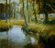 autumn stream by george ames aldrich