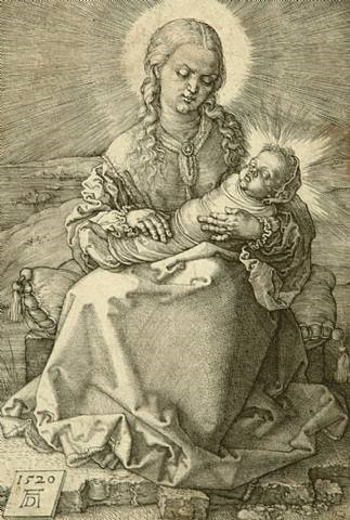 virgin with the swaddled child by albrecht dürer