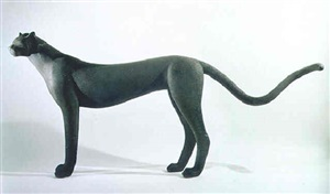 standing cheetah, ed.3/9 by gwynn murrill