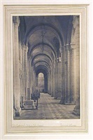 ely cathedral, south nave aisle to west by frederick henry evans