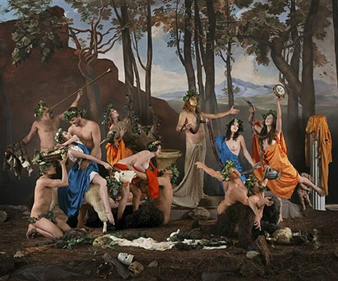 the triumph of pan (after poussin) by eleanor antin