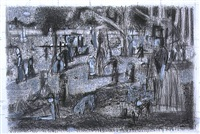 seurat drawing #2 by michael hurson