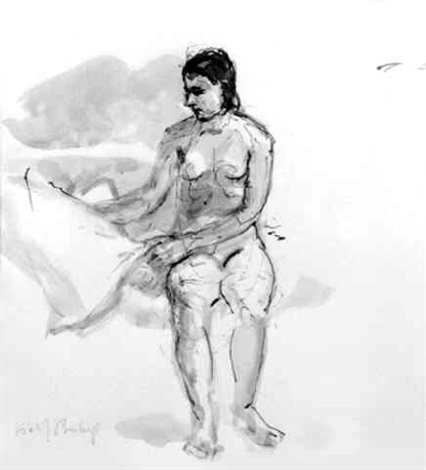 nude sitting by isabel bishop