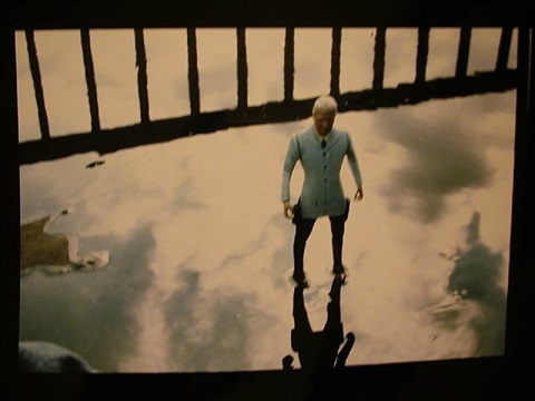 man/sky/puddle by laurie simmons