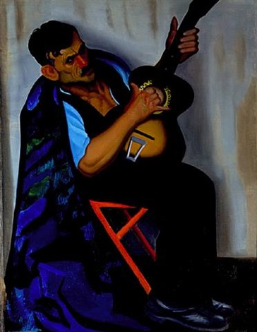 guitar player by joseph stella