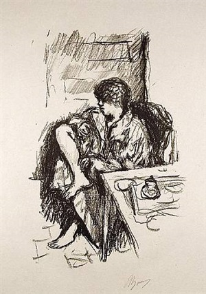 la toilette assise by pierre bonnard