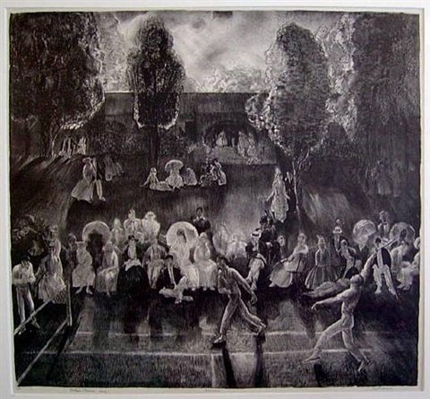 tennis (tennis tournament) by george wesley bellows