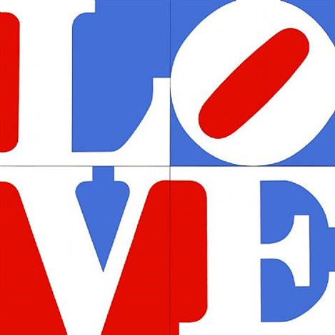 the great american love by robert indiana