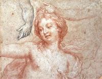 etude de vénus (?) et de mains by charles de la fosse