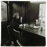 Woman at a counter smoking, N.Y.C. 1962, 1962