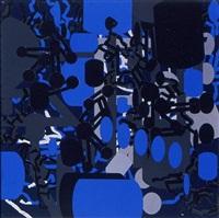 sculptured activities: blue by barry le va