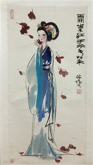 chinese scroll painting by lin yong by lin yong