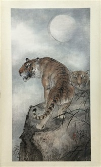 chinese scroll painting by yang shan shen by yang shanshen