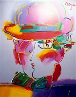 zero in purple by peter max