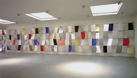 sculpture for a large wall, 1957 (104 panels) by ellsworth kelly