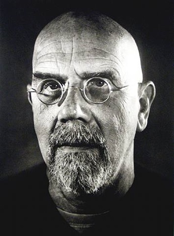 self-portrait/photogravure by chuck close