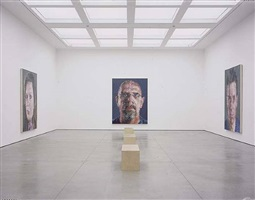 installation 'chuck close recent paintings', white cube 2003 by chuck close