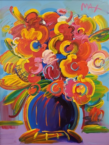 Artnet & Vase of Flowers Series by Peter Max on artnet