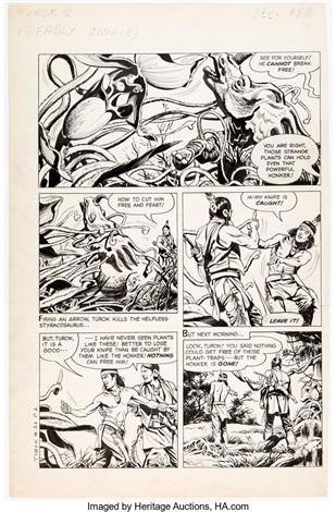 Giovanni Ticci And Alberto Giolitti Turok Son Of Stone 26 Story Page 2 Original Art Dell 1962 By Giovanni Ticci On Artnet