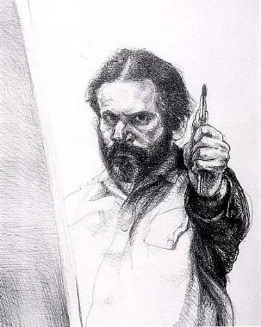 measuring up (self-portrait) by sigmund m. abeles