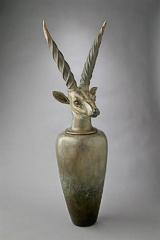 canopic jar: giant eland by william morris
