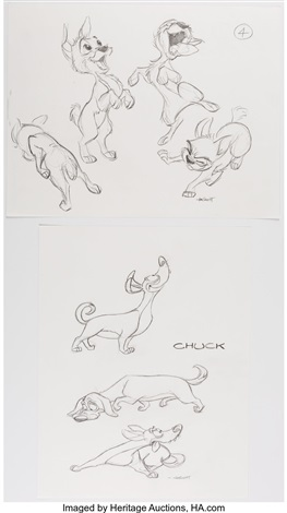 Lady And The Tramp 2 Scamps Adventure Group Of 14 Drawings Disney 2001 Total 14 Original Art By Walt Disney Studios On Artnet