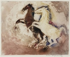 two horses by william meyerowitz