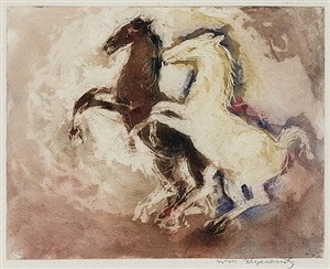 two horses by william meyerowitz