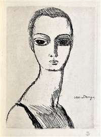 Girl with swans neck, 1925
