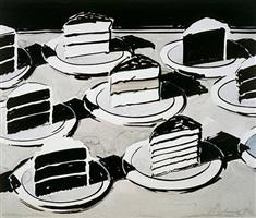 cake slices by wayne thiebaud