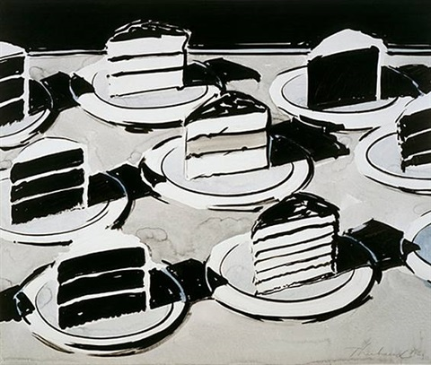 cake slices by wayne thiebaud