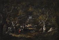 Vieux Chenes, Rochers, Fagotiere et Petite..., 1859