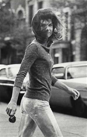 windblown jackie 1971 by ron galella