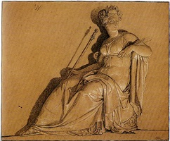 a seated allegorical figure by louis lafitte